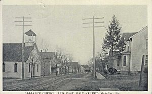 Mahaffey, Pennsylvania - East Main Street, c. 1923