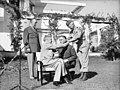 Allies Grand Strategy Conference in N Africa- President Roosevelt Meets Mr Churchill. One of the Most Momentous Conferences of This War Began on January 14, 1943 Near Casablanca, When President Roosevelt and Mr A14059.jpg