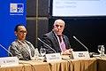 Allyson Maynard Gibson and Sergei Popkov, ITU Telecom World 2016.jpg