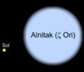 Alnitak sun comparision.png