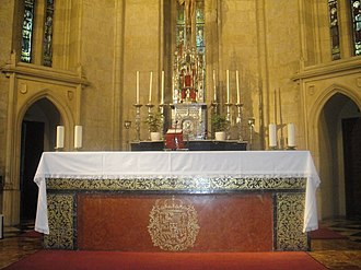 Royal Collegiate Church of Saint Hippolytus - Image: Altar mayor y sagrario. Iglesia de San Hipólito de Córdoba