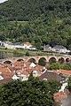 Alte Brücke seen from the castle - Heidelberg - Germany 2017.jpg