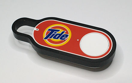 An Amazon Dash Button for Tide laundry detergent Amazon Dash Button Tide.jpg