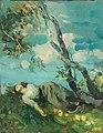 Ambrogio Alciati - Junge Frau unter einem Baum ruhend.jpg