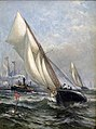 America's Cup Puritan and Genesta, by Edward Moran.jpg