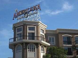 Americana at Brand - Americana signage