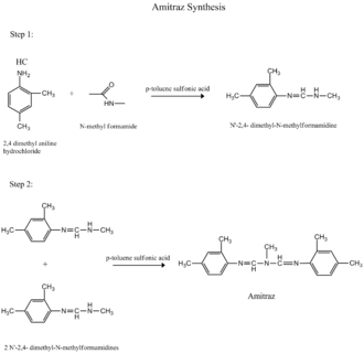 Amitraz - Figure 2; Amitraz Synthesis Route 2