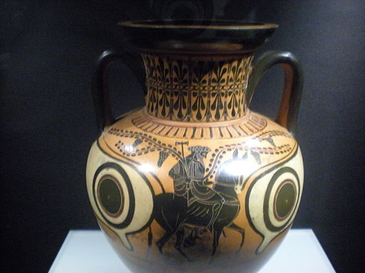 Amphora black figured - Hephaestus returns to the Olympos