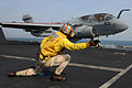 An officer launches an EA-6B..jpg
