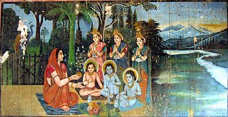 Anasuya - Anasuya feeding the Hindu Trinity