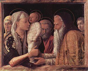 Présentation de Jésus au temple, Andrea Mantegna 1465