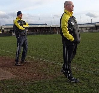 Hucknall Town F.C. - Andy Graves (left) and Phil Henry (right), manager and assistant manager at Hucknall Town