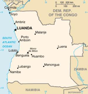 Ambriz - Image: Angola map