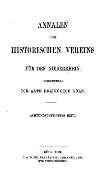 File:Annalen des Historischen Vereins für den Niederrhein 58 (1894).djvu