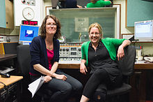 Annette Mackenzie and Carrie Gracie at the BBC World Service (4635352241).jpg