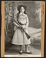 Annie Oakley - famous rifle shot and holder of the Police Gazette championship medal LCCN2009631997.jpg