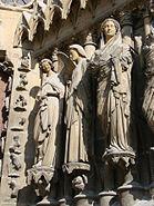 Annonciation portail Reims