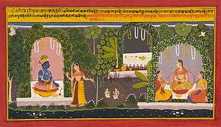 Illustration from a Gita Govindaserie