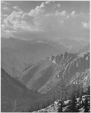 Kings River (California) - A photograph taken by Ansel Adams of the Middle Fork and from the south Fork of Cartridge Creek