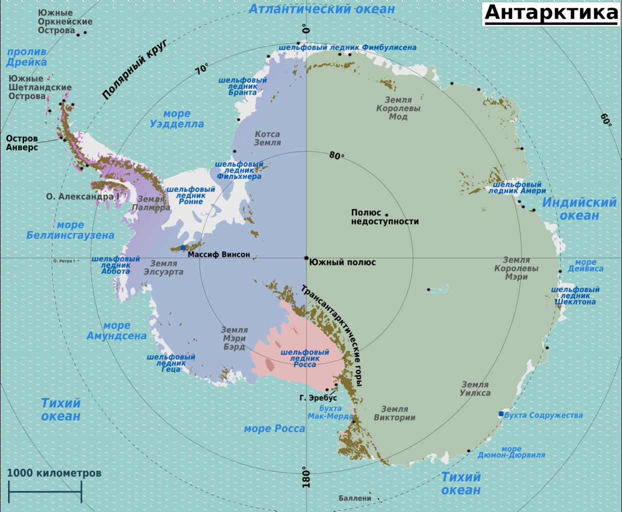 Antarktis Map