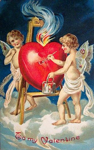 Valentine's Day - 1909 Valentine's card