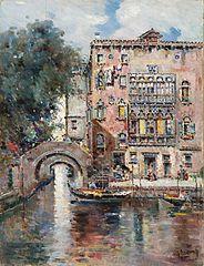 Gondoles sur un canal vénitien