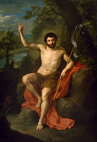 John the Baptist - John the Baptist Preaching in the Wilderness by Anton Raphael Mengs, 1760