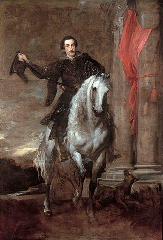 Charles I with M. de St Antoine - Image: Anton Van Dyck Anton Giulio Brignole Sale on horseback Google Art Project