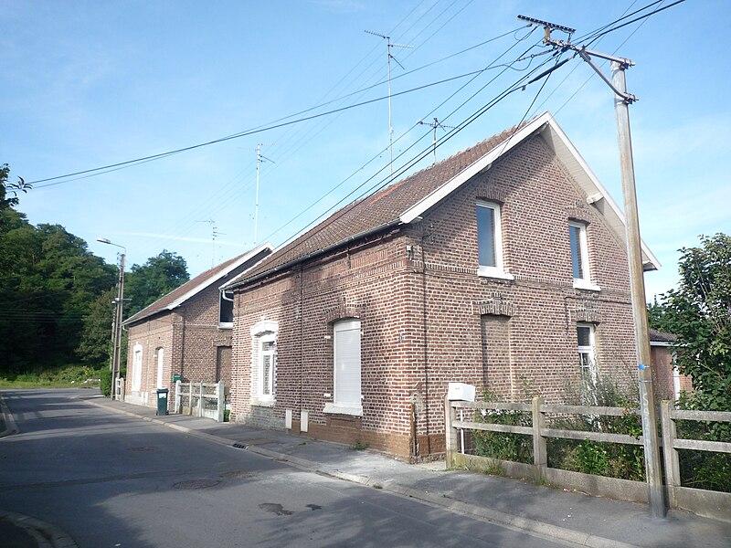 Maisons des mines de la fosse Bleuse Borne, Anzin, Nord, Nord-Pas-de-Calais, France.