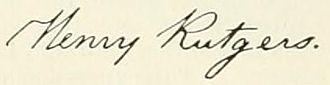 Henry Rutgers - Image: Appletons' Rutgers Henry signature