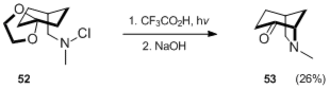 Hofmann–Löffler reaction - Image: Applications in synthesis Scheme 18