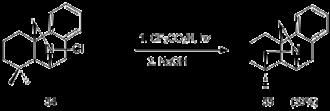 Hofmann–Löffler reaction - Image: Applications in synthesis Scheme 19