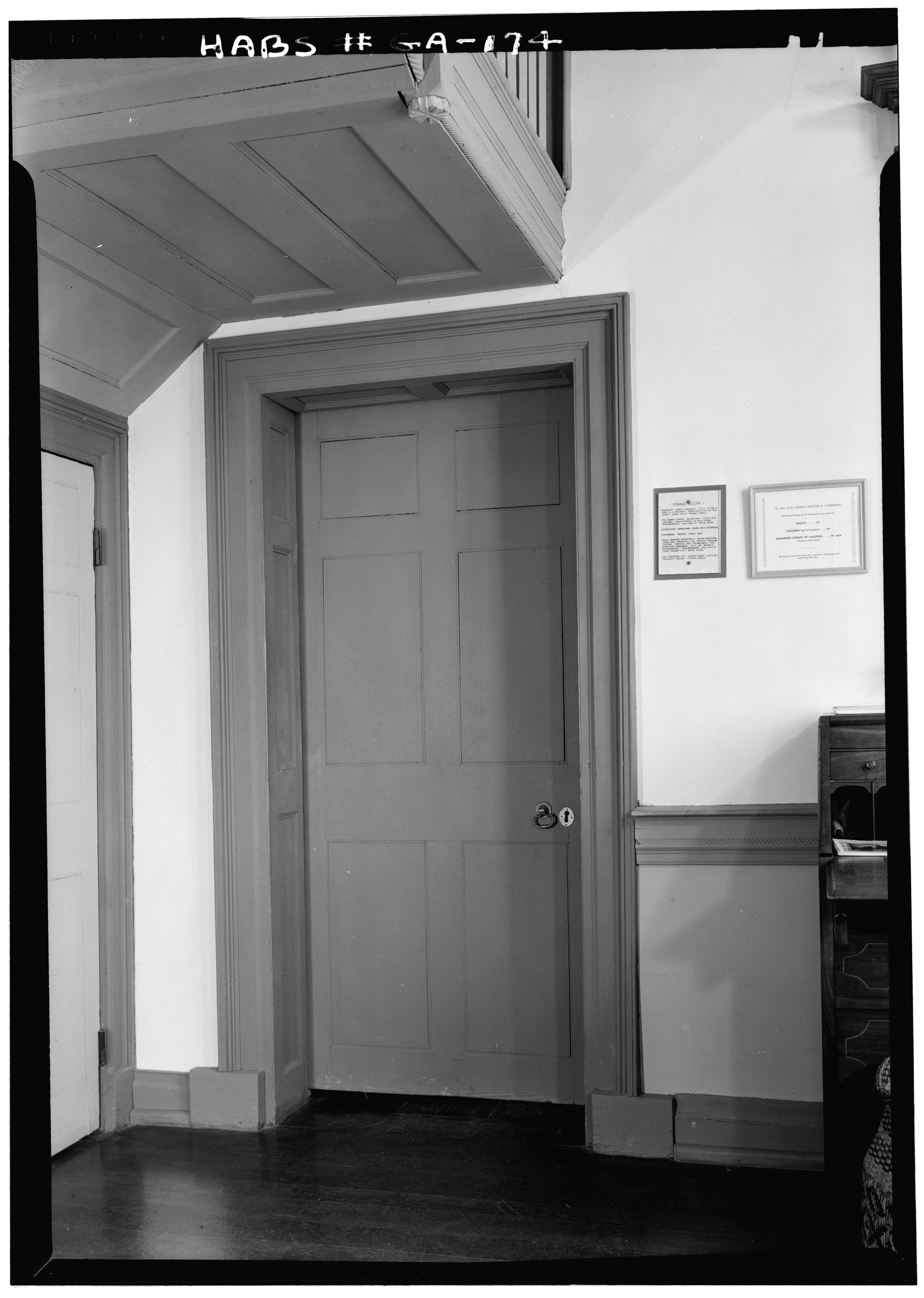 File April 1962 Door Beneath Stair Landing First Floor