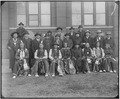 Arapaho, Cheyenne, and Chippewa delegation. Photographed in front of the Smithsonian's Arts and Industries Building. - NARA - 523613.tif