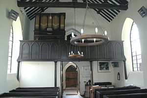 West gallery music - West gallery in St. Mary's church, Ardley, Oxfordshire