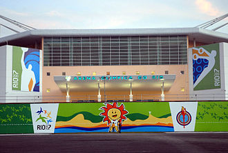 Barra Olympic Park - Exterior view of the Rio Olympic Arena during the 2007 Pan American Games.