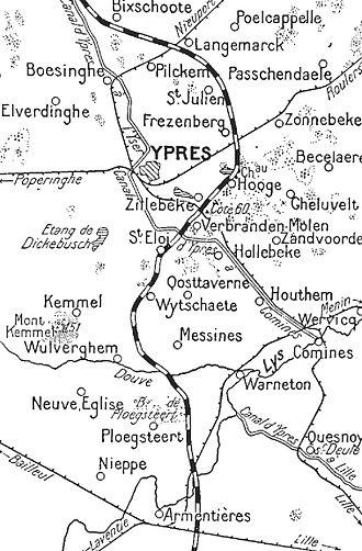 Battle of Armentières - Image: Armentieres North Sea, winter 1914 1915