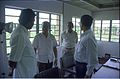 Armoogum Parsuramen Talks With Saroj Ghose And Other Officers - Science City Site Office - Calcutta 1994 374.JPG