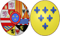 Arms of Elisabetta Farnese, Queen Consort of Spain.png