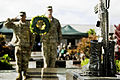Army Lt. Col. Ross Guieb, left, commander, 728th MP Battalion, 8th MP Brigade, and Command Sgt. Maj. Scott Dooley, senior enlisted leader, 728th MP Battalion, salute Cpl. Andrew Wilfahrt Battlecross during the 120227-A-TW035-014.jpg