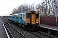 Arriva Trains Wales Class 150, 150231, Shotton High Level railway station (geograph 3800357).jpg