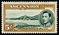 Ascension 1944 5sh yellow brown Long Beach..jpg