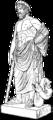 Asklepios, antik staty, nu i Louvre, Nordisk familjebok.png