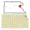 Atchison County Kansas Incorporated and Unincorporated areas Atchison Highlighted.svg