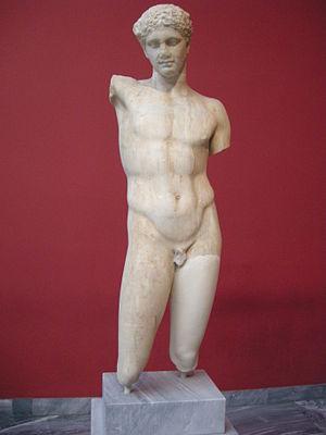Athete of eleusis, copy from policletus, origi...