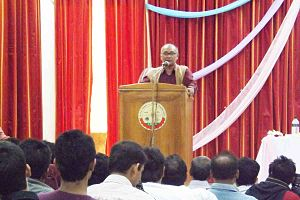 Jessore University of Science & Technology - JUST's VC Abdus Sattar deliver his lecture at JUST Auditorium/Gallery