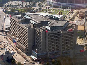 CNN Center - Aerial view of the CNN Center.