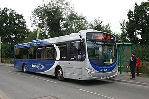 Fastway (bus rapid transit) - A Fastway bus