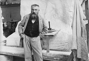 Auguste Rodin - Rodin in his studio.