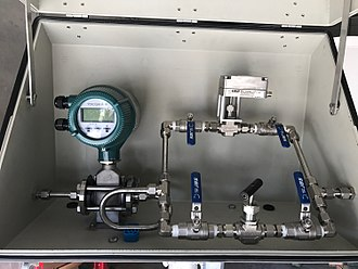 Needle valve - Electrically automated needle valve fluid on a fluid processing system.
